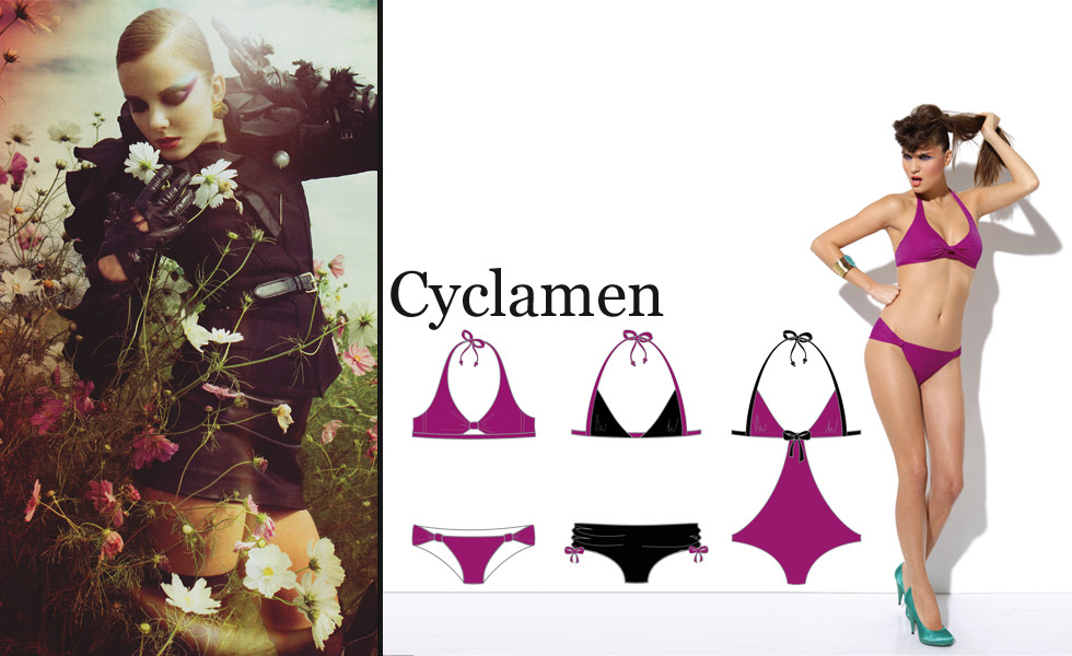 Stylisme Bain Cyclamen