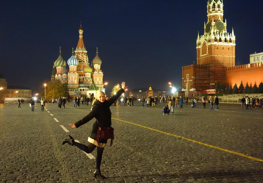 Vanessa sur la Place rouge